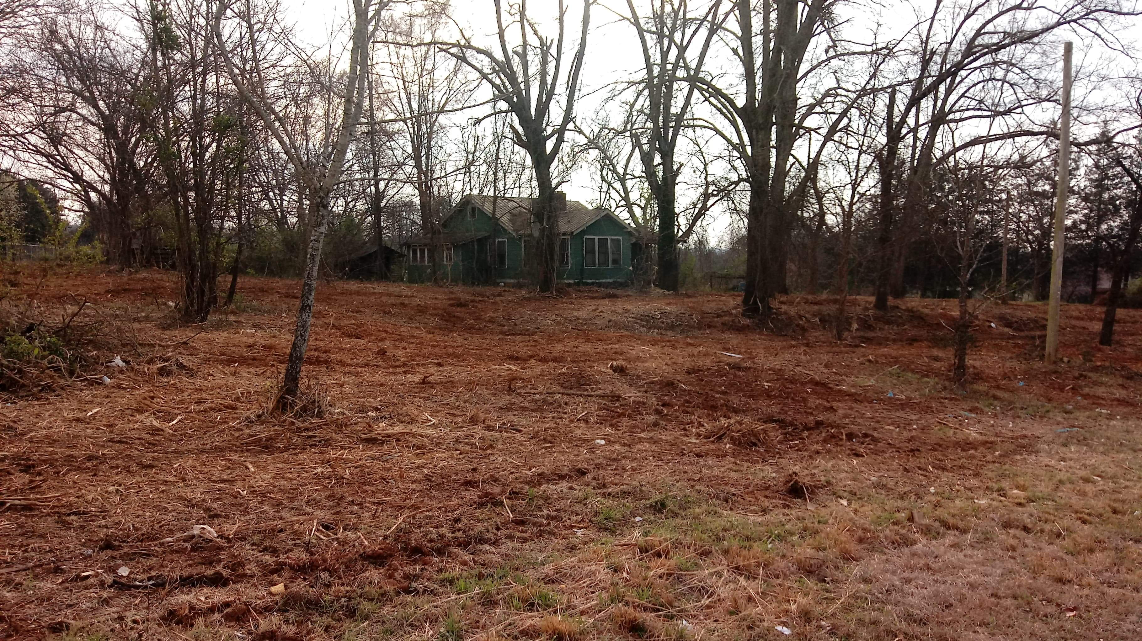 Forestry Mulching used to clear to hidden house